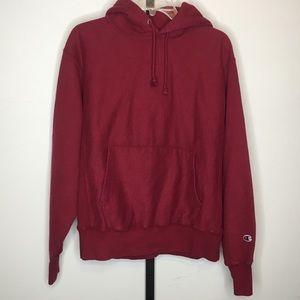 Champion Reverse Weave Hoodie Sweatshirt Burgundy